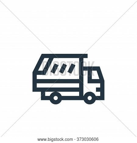 garbage truck icon isolated on white background from  collection. garbage truck icon trendy and mode