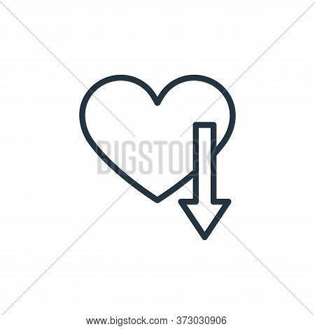 love icon isolated on white background from  collection. love icon trendy and modern love symbol for