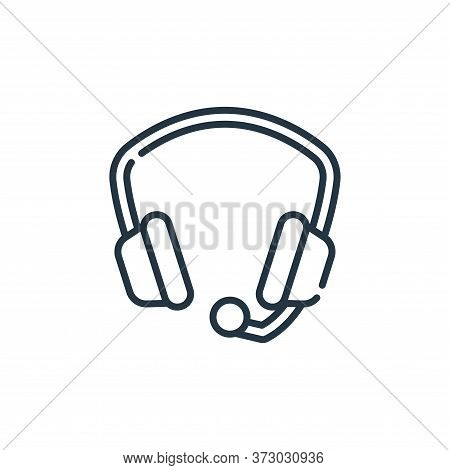 headphone icon isolated on white background from  collection. headphone icon trendy and modern headp