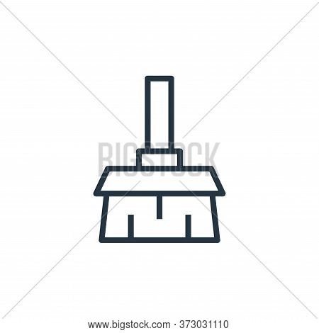 broom icon isolated on white background from  collection. broom icon trendy and modern broom symbol