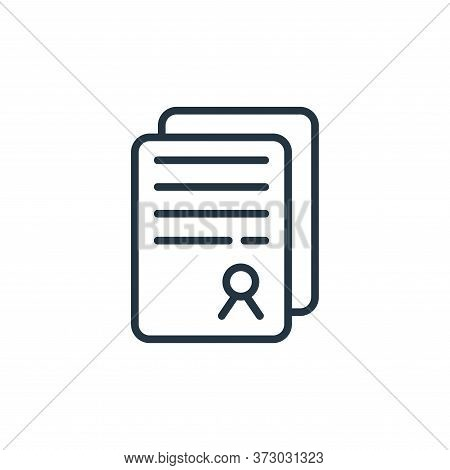 contract icon isolated on white background from  collection. contract icon trendy and modern contrac