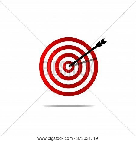 Target Icon Isolated On White Background. Target Icon In Trendy Design Style. Target Vector Icon Mod