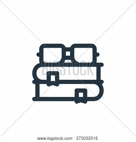 books icon isolated on white background from  collection. books icon trendy and modern books symbol