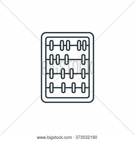 abacus toy icon isolated on white background from  collection. abacus toy icon trendy and modern aba