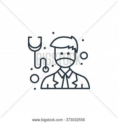 doctor icon isolated on white background from  collection. doctor icon trendy and modern doctor symb
