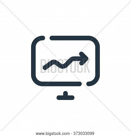 Stats Vector Icon Isolated On White Background.