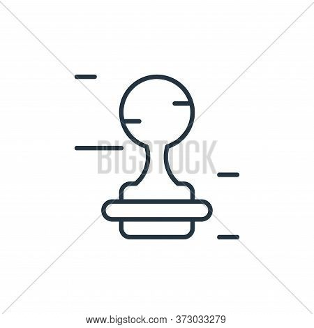 stamp icon isolated on white background from  collection. stamp icon trendy and modern stamp symbol