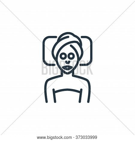 face massage icon isolated on white background from  collection. face massage icon trendy and modern