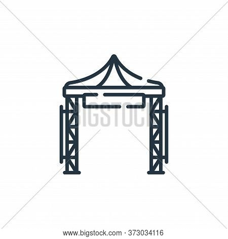 festival icon isolated on white background from  collection. festival icon trendy and modern festiva