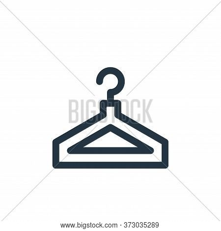 clothes hanger icon isolated on white background from  collection. clothes hanger icon trendy and mo