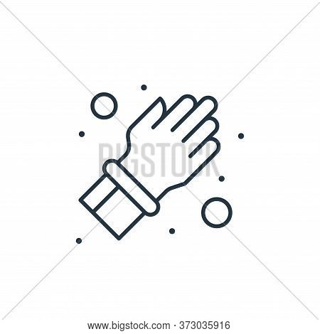 rubber gloves icon isolated on white background from  collection. rubber gloves icon trendy and mode
