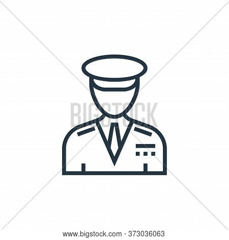 captain icon isolated on white background from  collection. captain icon trendy and modern captain s