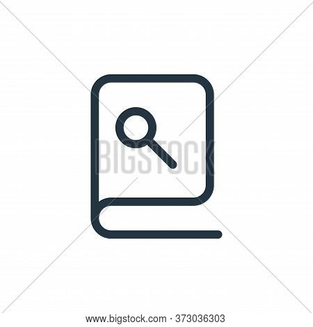 book icon isolated on white background from  collection. book icon trendy and modern book symbol for