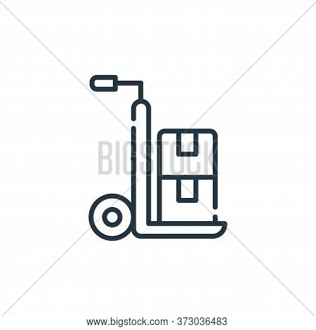 delivery cart icon isolated on white background from  collection. delivery cart icon trendy and mode