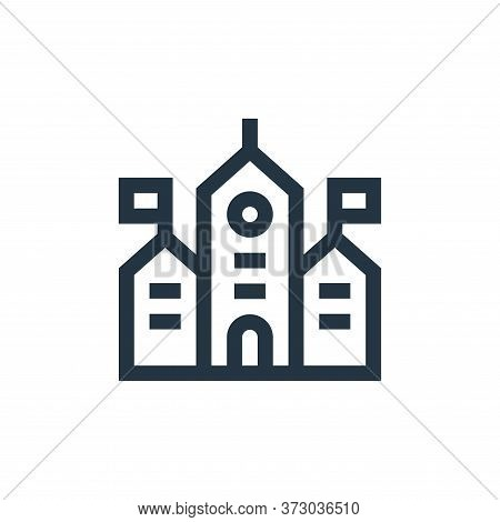 town hall icon isolated on white background from  collection. town hall icon trendy and modern town