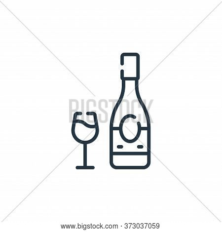 wine bottle icon isolated on white background from  collection. wine bottle icon trendy and modern w