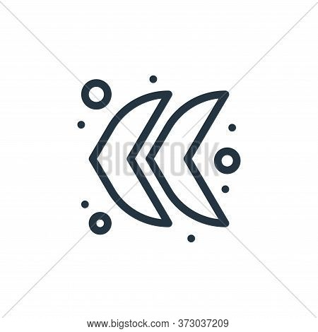 arrow left icon isolated on white background from  collection. arrow left icon trendy and modern arr