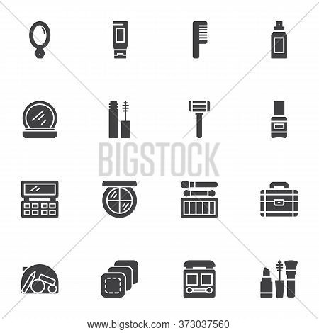 Makeup Vector Icons Set, Modern Solid Symbol Collection, Filled Style Pictogram Pack. Signs, Logo Il