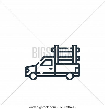 pickup truck icon isolated on white background from  collection. pickup truck icon trendy and modern