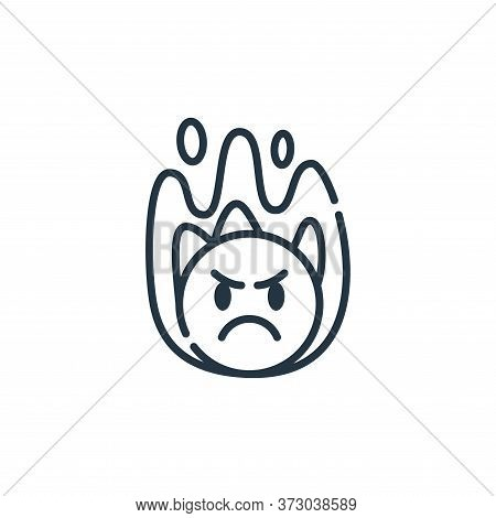 angry icon isolated on white background from  collection. angry icon trendy and modern angry symbol