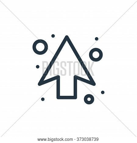 up arrow icon isolated on white background from  collection. up arrow icon trendy and modern up arro