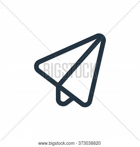 paper plane icon isolated on white background from  collection. paper plane icon trendy and modern p
