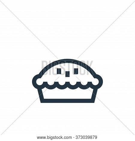 pie icon isolated on white background from  collection. pie icon trendy and modern pie symbol for lo