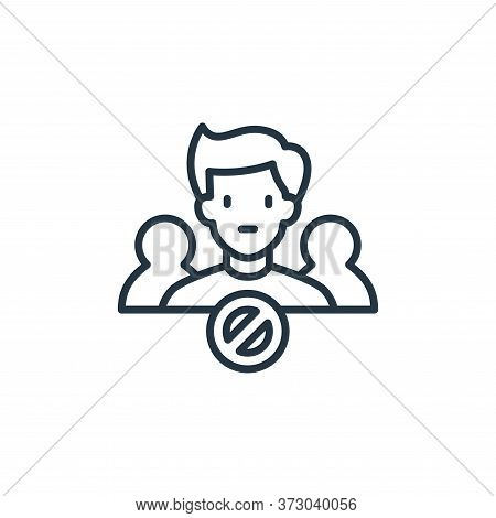 avoid crowds icon isolated on white background from  collection. avoid crowds icon trendy and modern