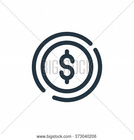 coin icon isolated on white background from  collection. coin icon trendy and modern coin symbol for