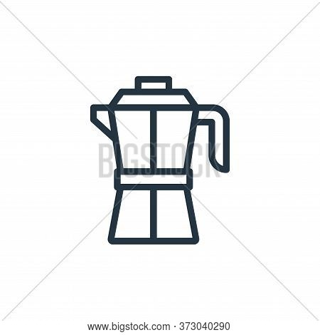 coffee maker icon isolated on white background from  collection. coffee maker icon trendy and modern