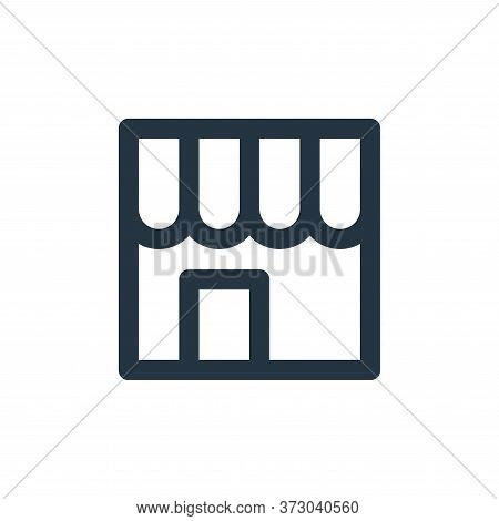 shopping store icon isolated on white background from  collection. shopping store icon trendy and mo