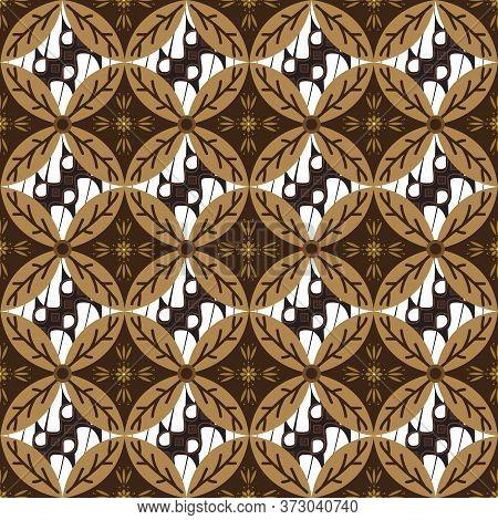 Unique Circle Motifs On Parang Batik Design With Elegant Mocca Color Design