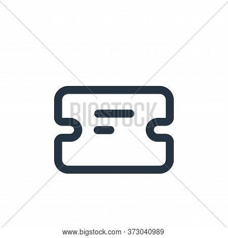 ticket icon isolated on white background from  collection. ticket icon trendy and modern ticket symb