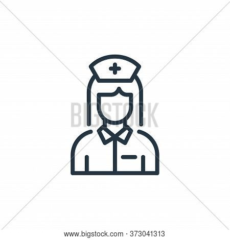 nurse icon isolated on white background from  collection. nurse icon trendy and modern nurse symbol