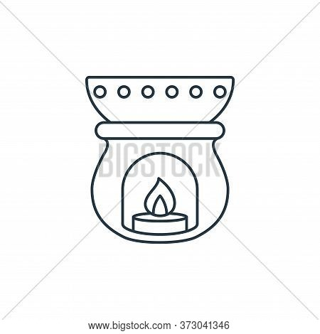 Aromatherapy Vector Icon Isolated On White Background.