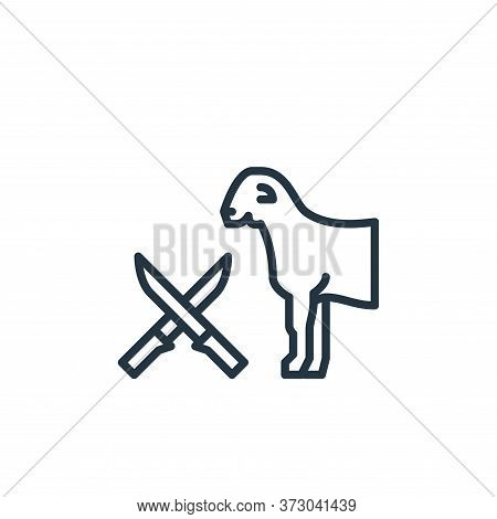 goat icon isolated on white background from  collection. goat icon trendy and modern goat symbol for