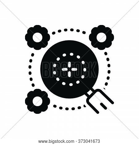 Black Solid Icon For Generalities Generalization Extrapolation Magnifying-glass