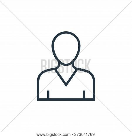 Sportsman Vector Icon Isolated On White Background.