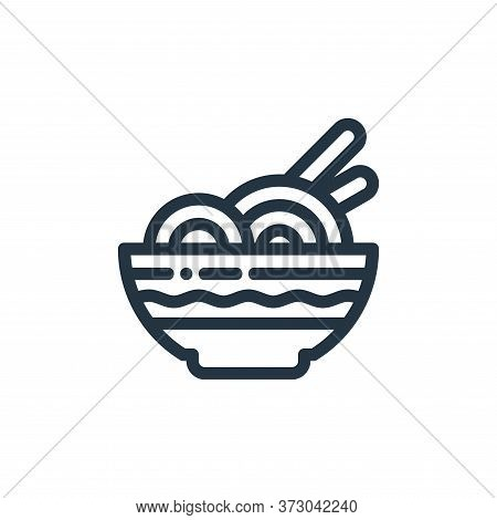 noodle icon isolated on white background from  collection. noodle icon trendy and modern noodle symb