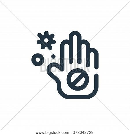 hand icon isolated on white background from  collection. hand icon trendy and modern hand symbol for