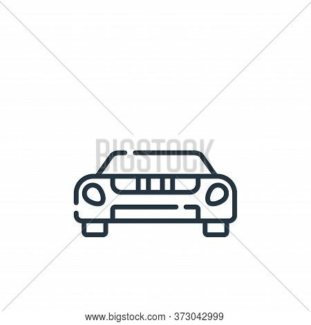 sport car icon isolated on white background from  collection. sport car icon trendy and modern sport