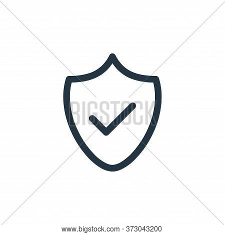secure icon isolated on white background from  collection. secure icon trendy and modern secure symb