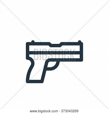 gun icon isolated on white background from  collection. gun icon trendy and modern gun symbol for lo