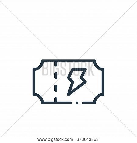 concert ticket icon isolated on white background from  collection. concert ticket icon trendy and mo