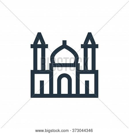 mosque icon isolated on white background from  collection. mosque icon trendy and modern mosque symb