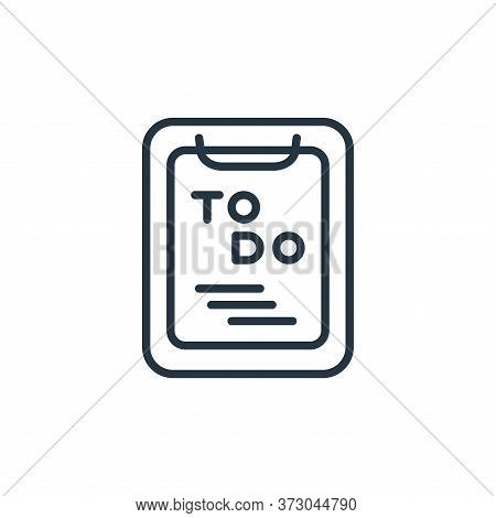 to do list icon isolated on white background from  collection. to do list icon trendy and modern to