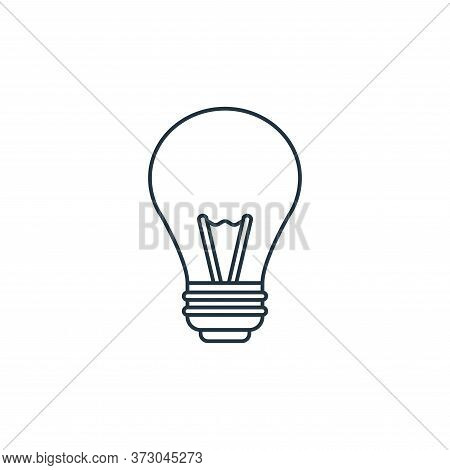 light bulb icon isolated on white background from  collection. light bulb icon trendy and modern lig