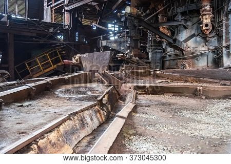 Old Blast Furnace Workshop On Old Mining And Metallurgical Plant In Nizhny Tagil. Russia