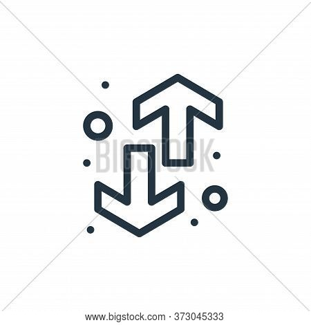 direction arrow icon isolated on white background from  collection. direction arrow icon trendy and