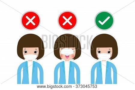 How To Wear The Correct Face Masks And The Wrong, Three Women Showing How To Wearing Protective Mask